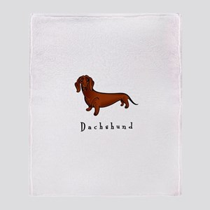 Dachshund Illustration Throw Blanket